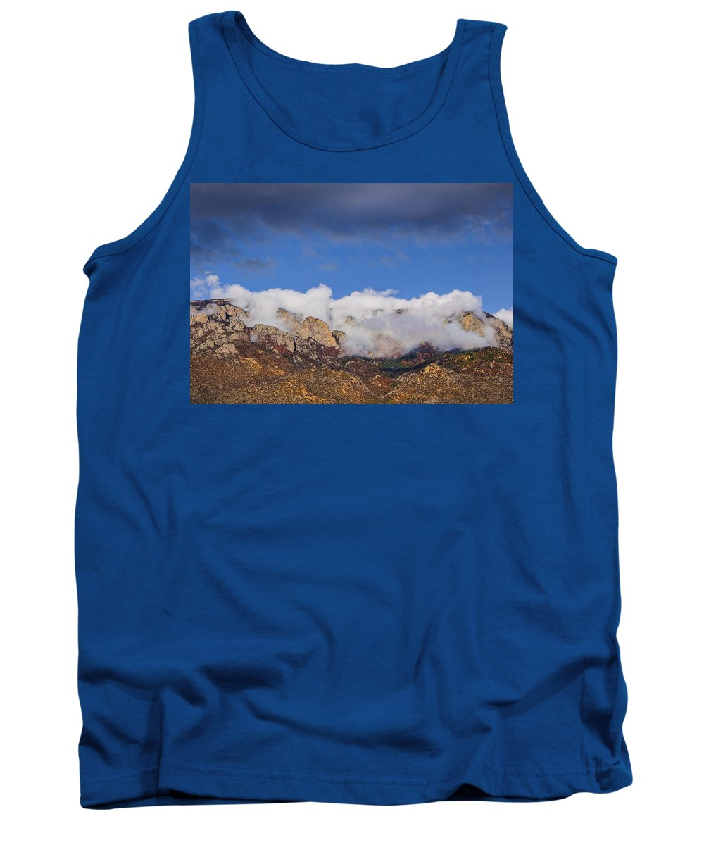 Clouds Tank Top featuring the photograph Cloudy Sandia Peaks 8510 by Brian King