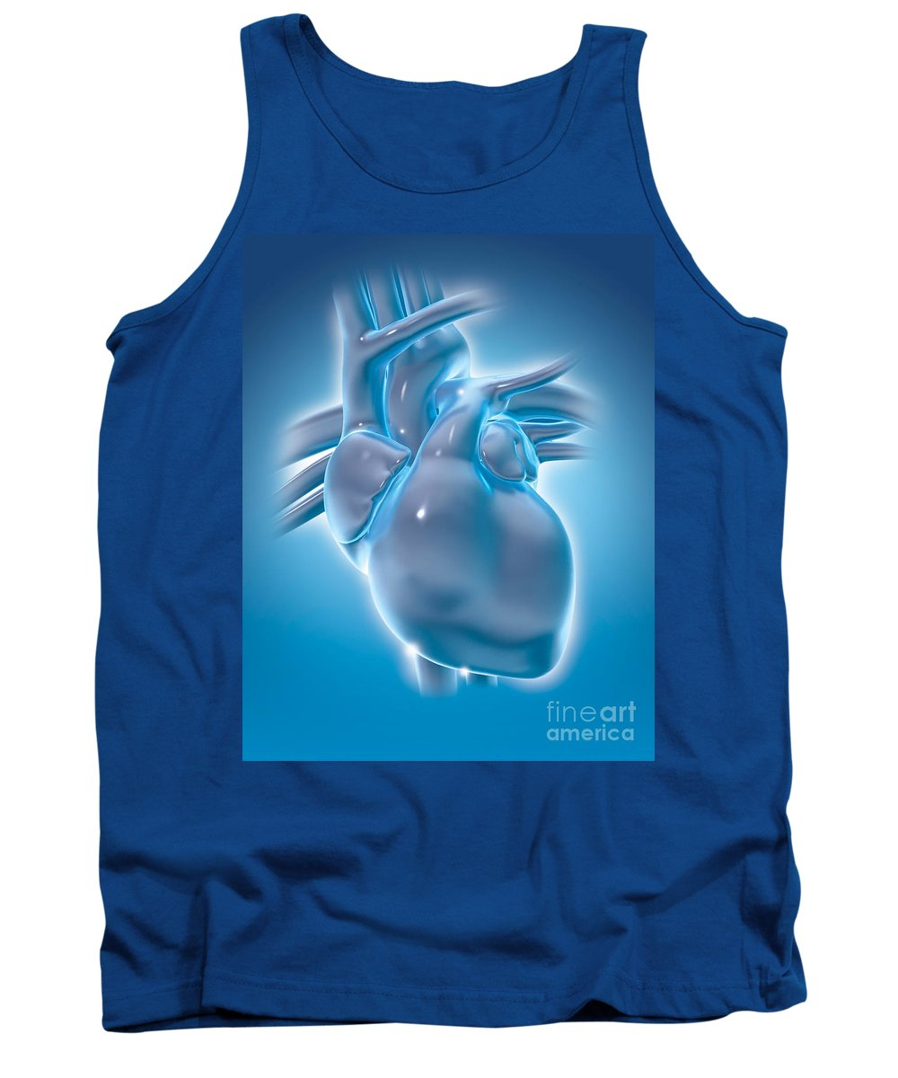 Heart Tank Top featuring the photograph Cold Heart by Marc Phares