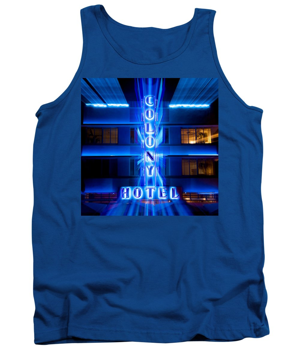 Colony Hotel Tank Top featuring the photograph Colony Hotel 2 by Dave Bowman