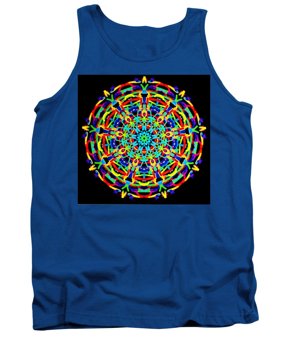 Barbara Snyder Tank Top featuring the digital art Colorful Kolide by Barbara Snyder
