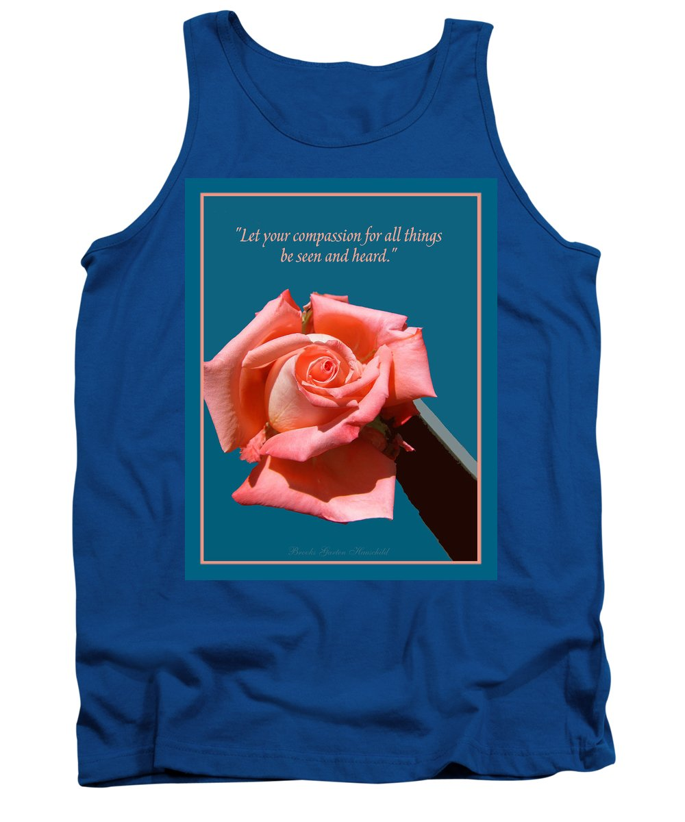 Rose Tank Top featuring the photograph Compassionate Heart Rose by Brooks Garten Hauschild