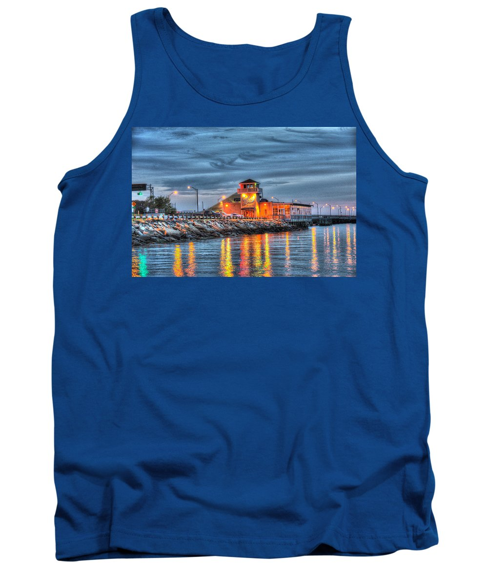 Blue Star Diner Tank Top featuring the photograph Crab Shack Seafood Restaurant by Greg Hager