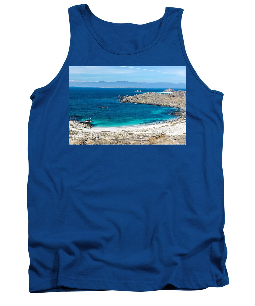 Marine Tank Top featuring the photograph Damas Island Beach by Jess Kraft