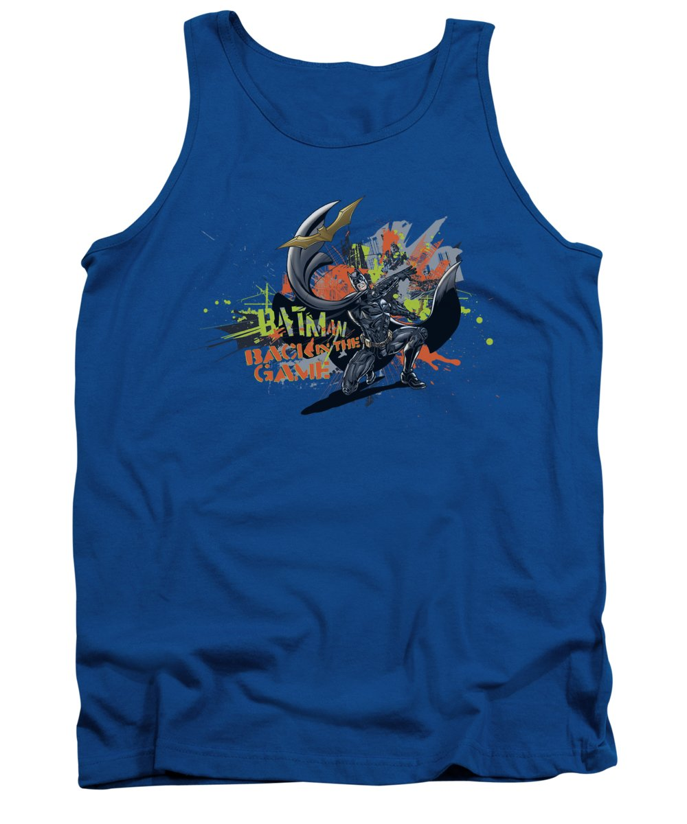 Dark Knight Rises Tank Top featuring the digital art Dark Knight Rises - Back In The Game by Brand A