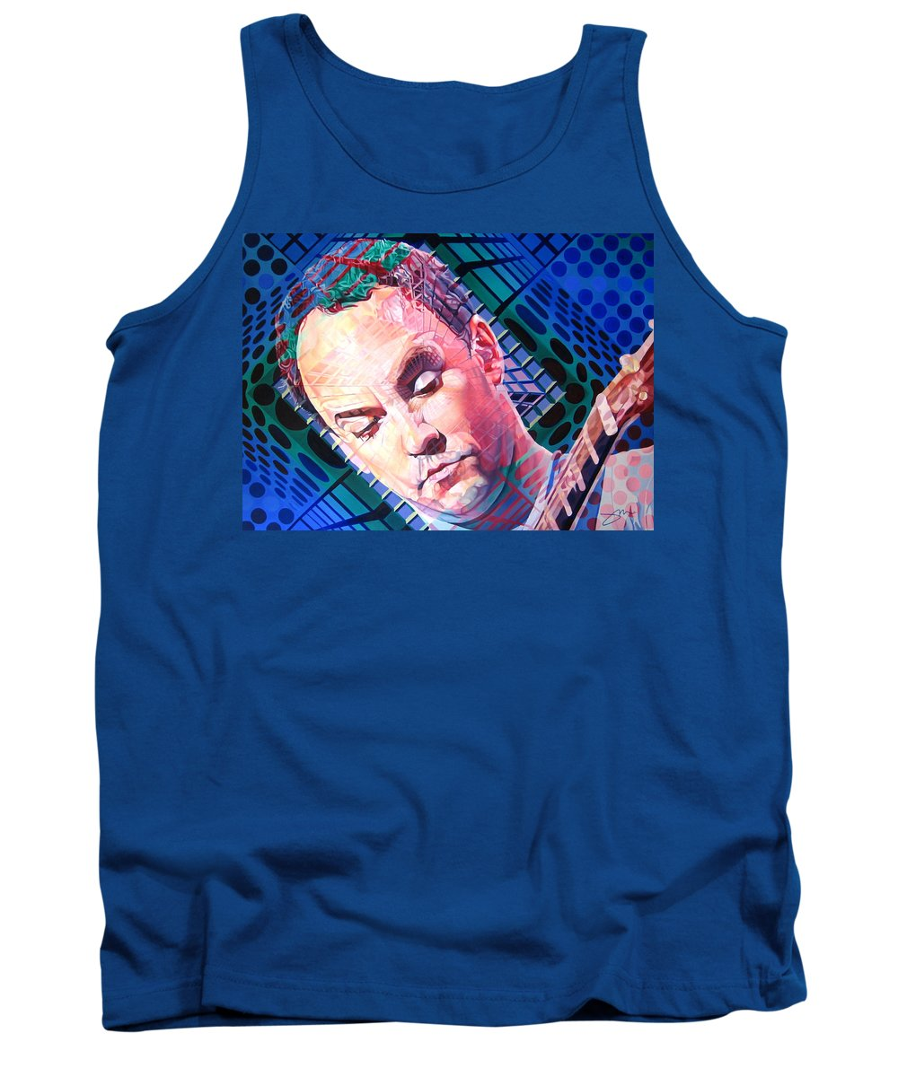 Dave Matthews Tank Top featuring the painting Dave Matthews Open Up My Head by Joshua Morton