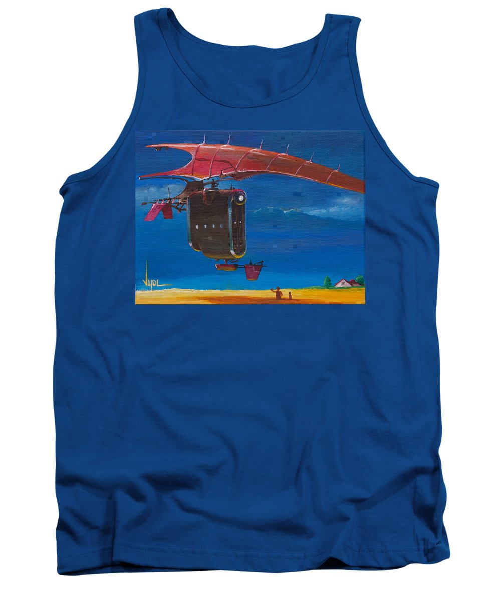 Landscape Tank Top featuring the painting Delivery After The Rain by Daniel Vijoi