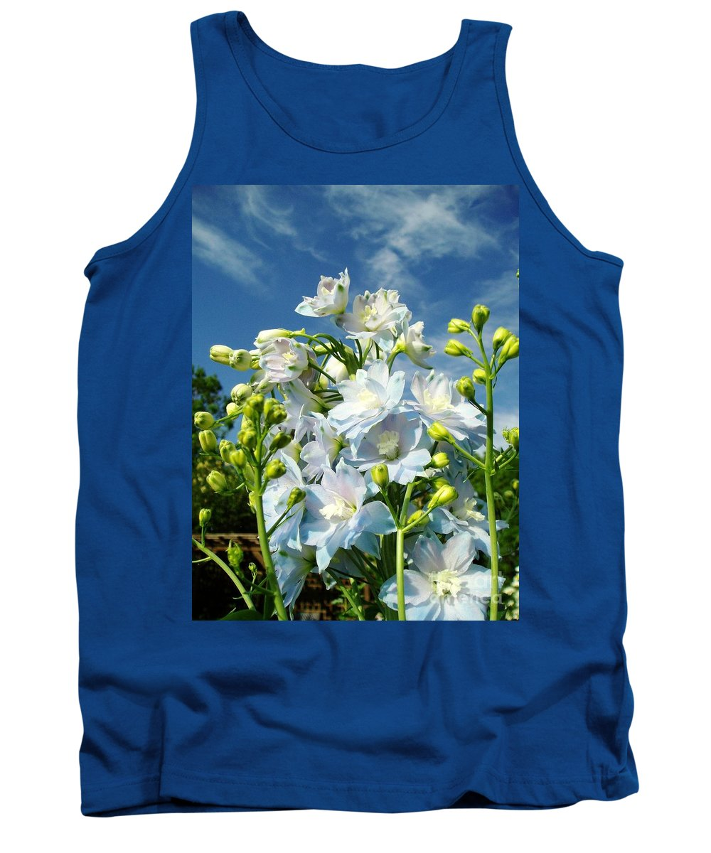 Tank Top featuring the photograph Delphinium Sky Original by Renee Croushore