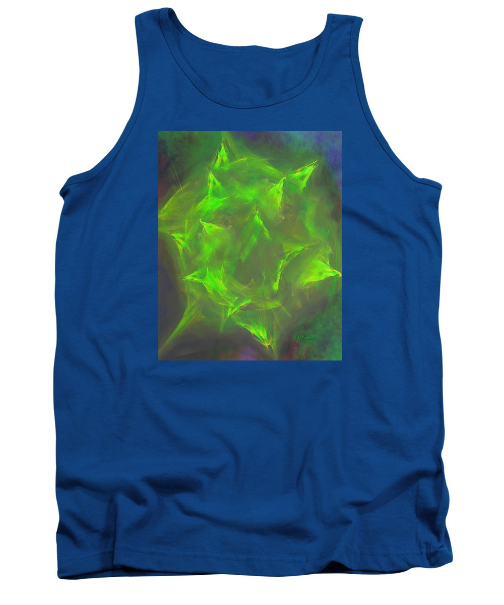 Abstract Tank Top featuring the digital art Desert Cactus by Diane Parnell