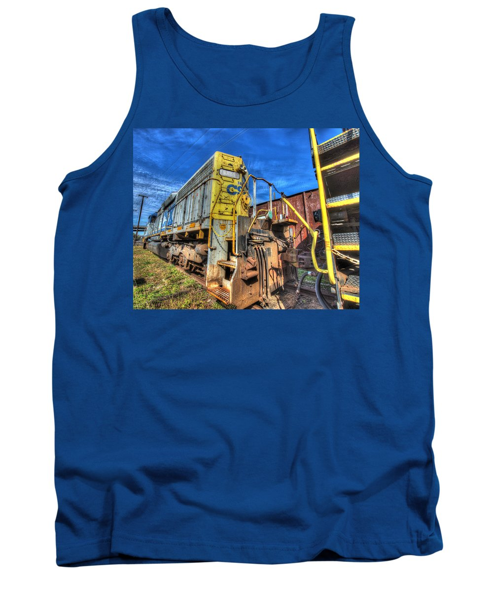 Historic Tank Top featuring the photograph Diesel Locomotive Csx by Greg Hager