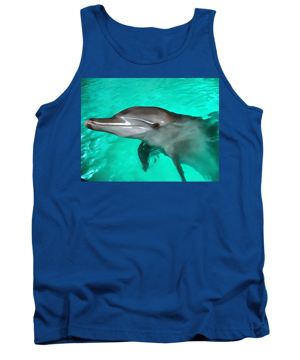 Dolphin Tank Top featuring the photograph Dolphin by Sergey Lukashin