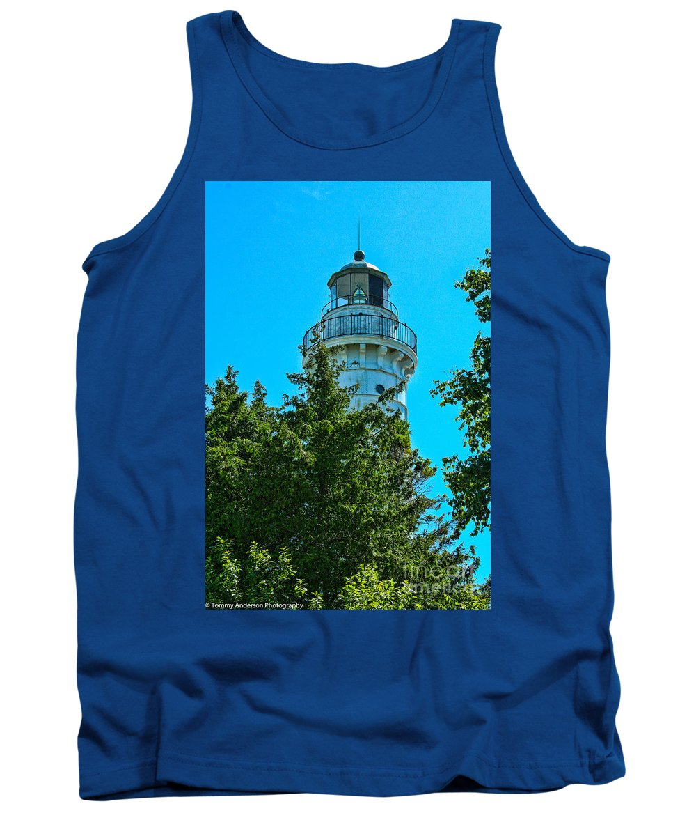 Cana Island Tank Top featuring the photograph Door County Wi Lighthouse by Tommy Anderson