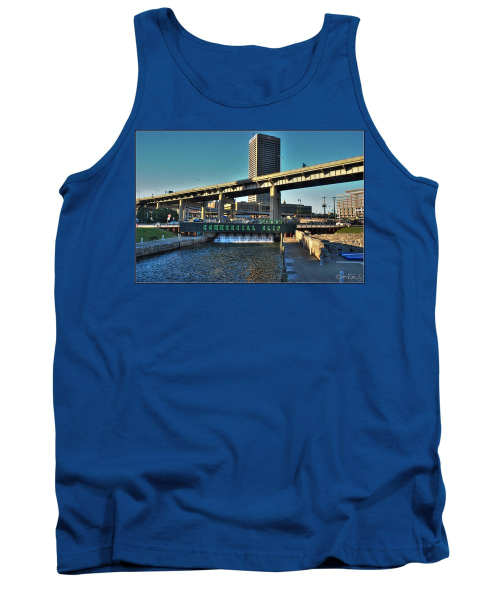 Commercial Slip Tank Top featuring the photograph Downtown View From The Harbor by Michael Frank Jr