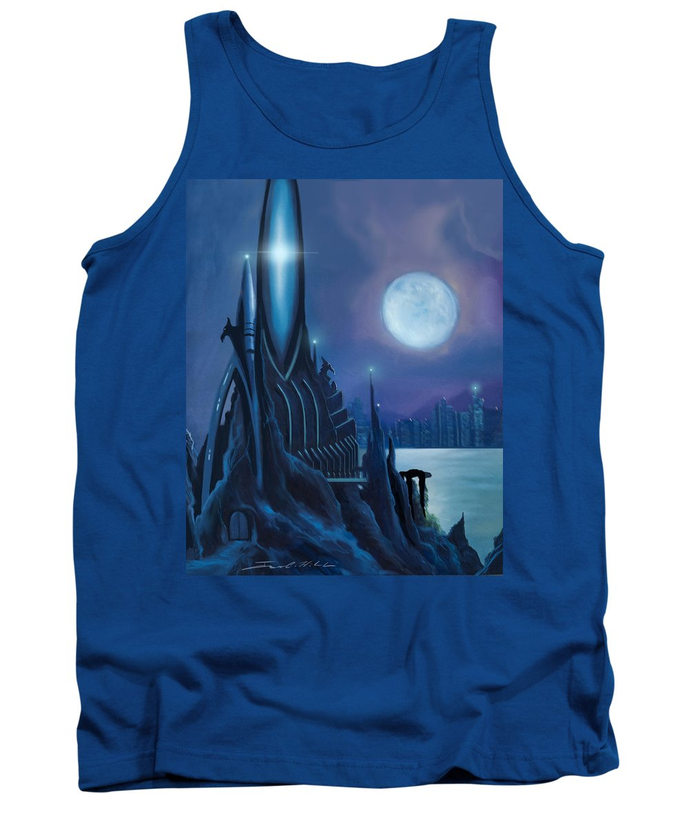 Sunrise Tank Top featuring the painting DragonTown by James Christopher Hill