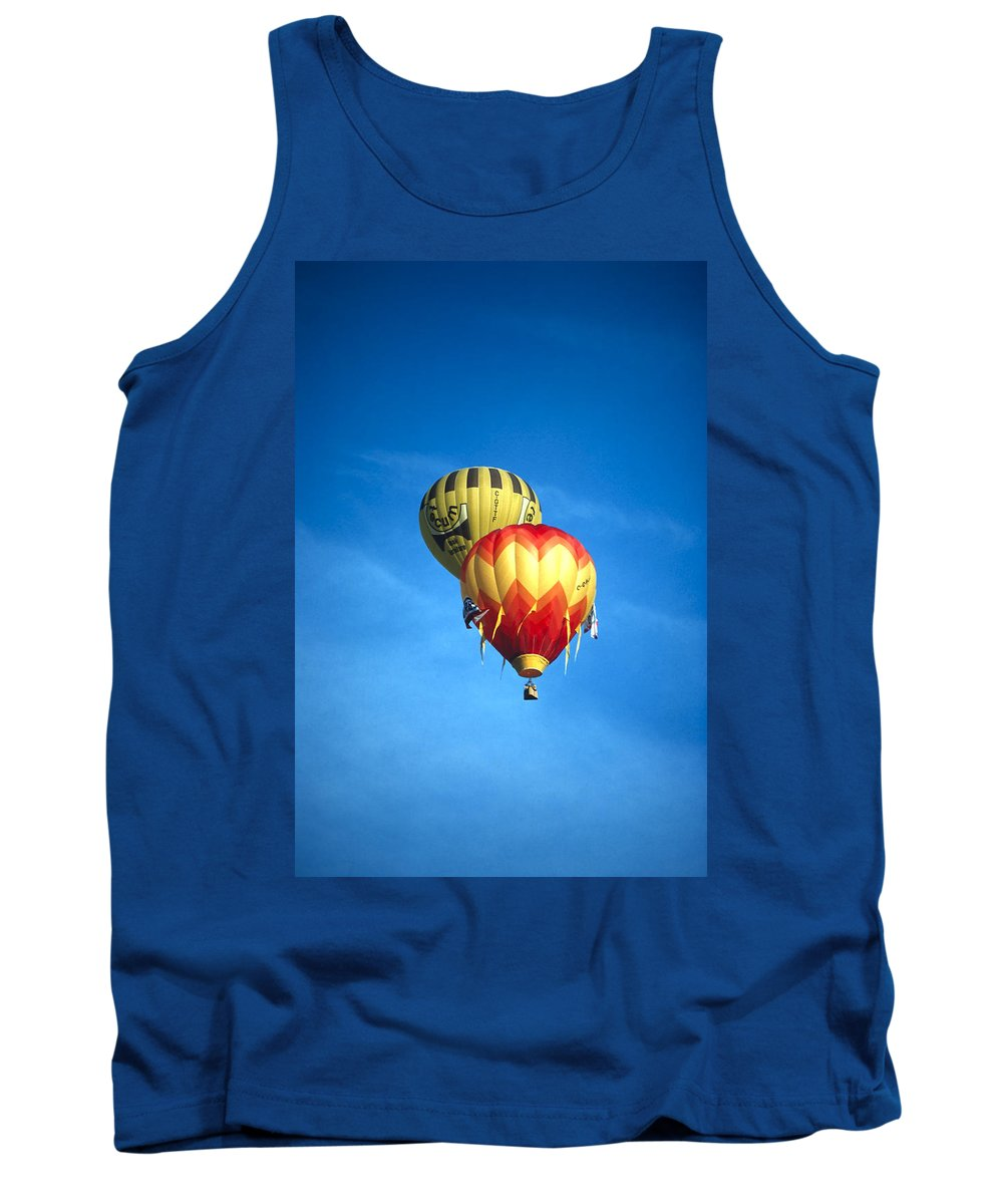 Alberta Tank Top featuring the photograph Dualing Ballons by Roderick Bley