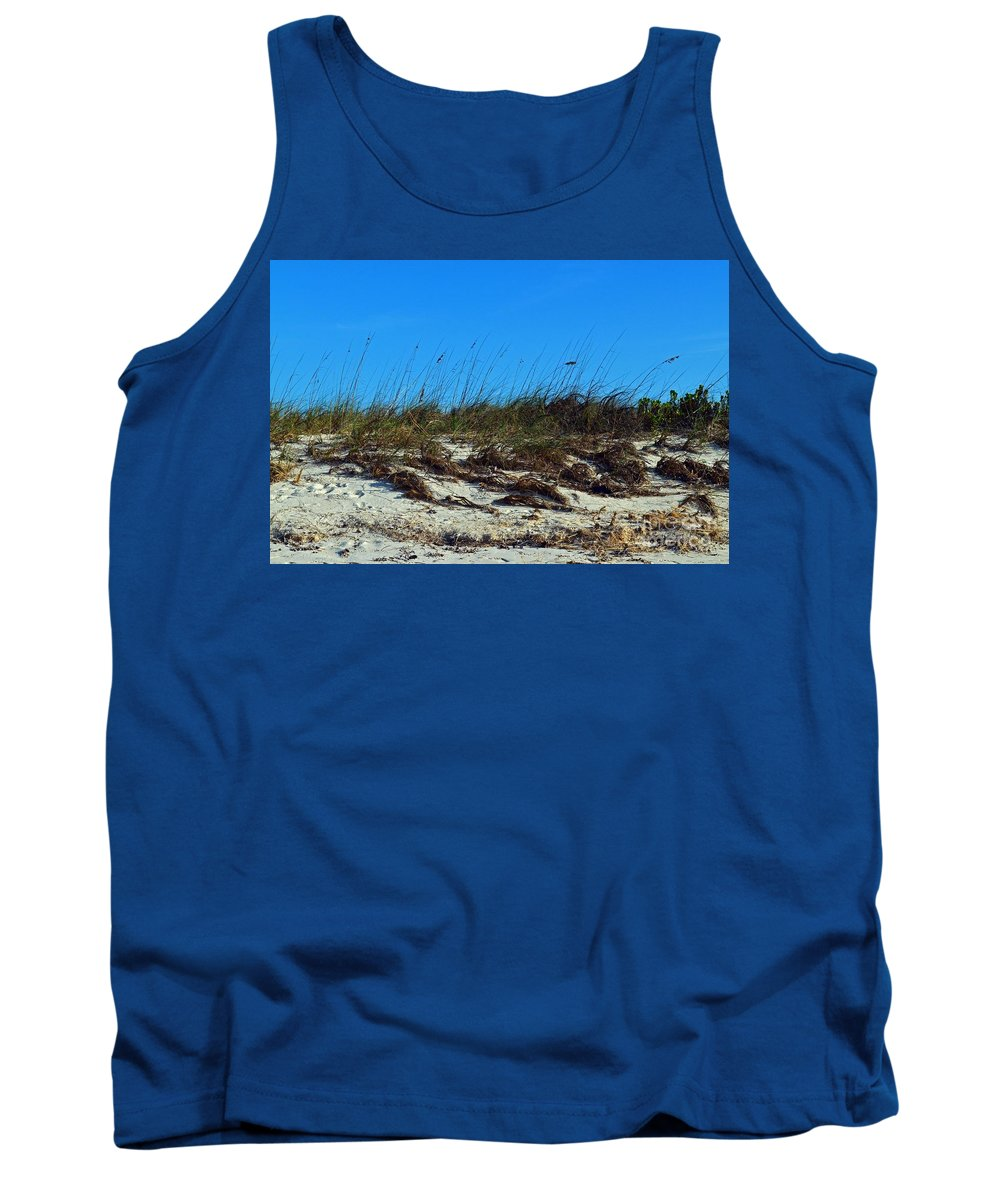 Turks And Caicos Tank Top featuring the photograph Dunes Of Turks by Judy Wolinsky