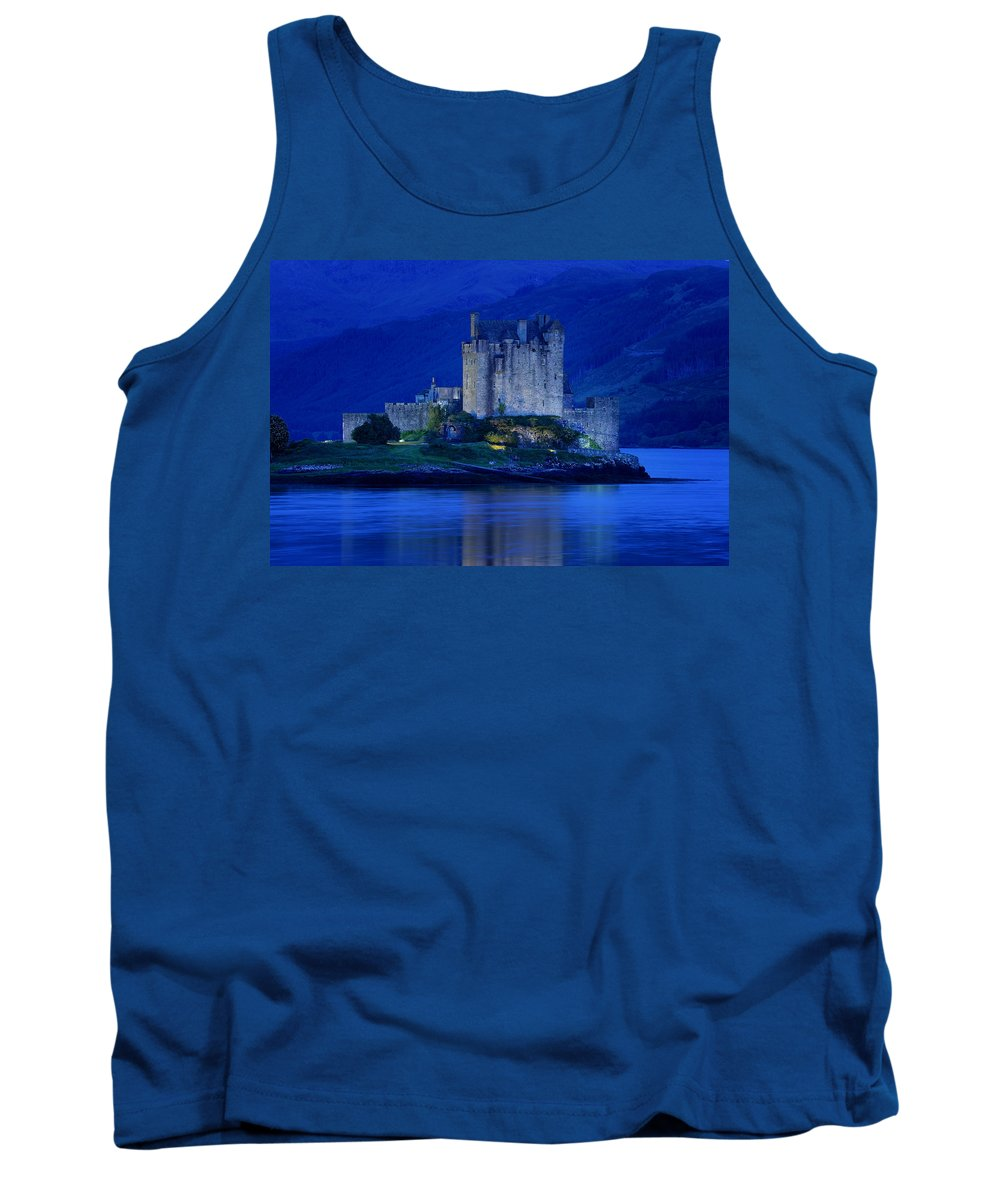 Architectural Exterior Tank Top featuring the photograph Eilean Donan Castle In Scotland by Don Hammond