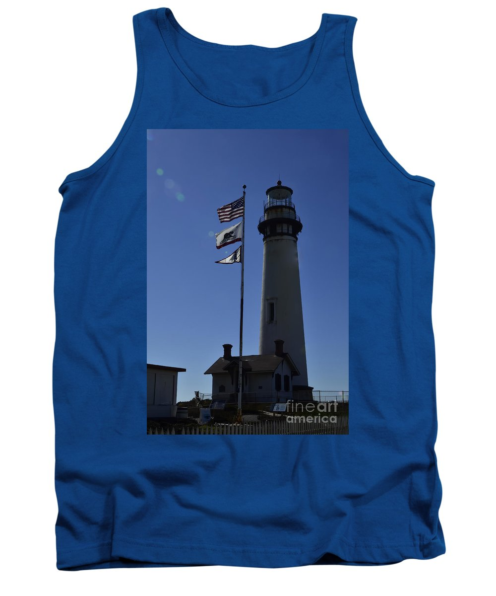 Pigeon Point Lighthouse Tank Top featuring the photograph End Of Watch by Rich Priest