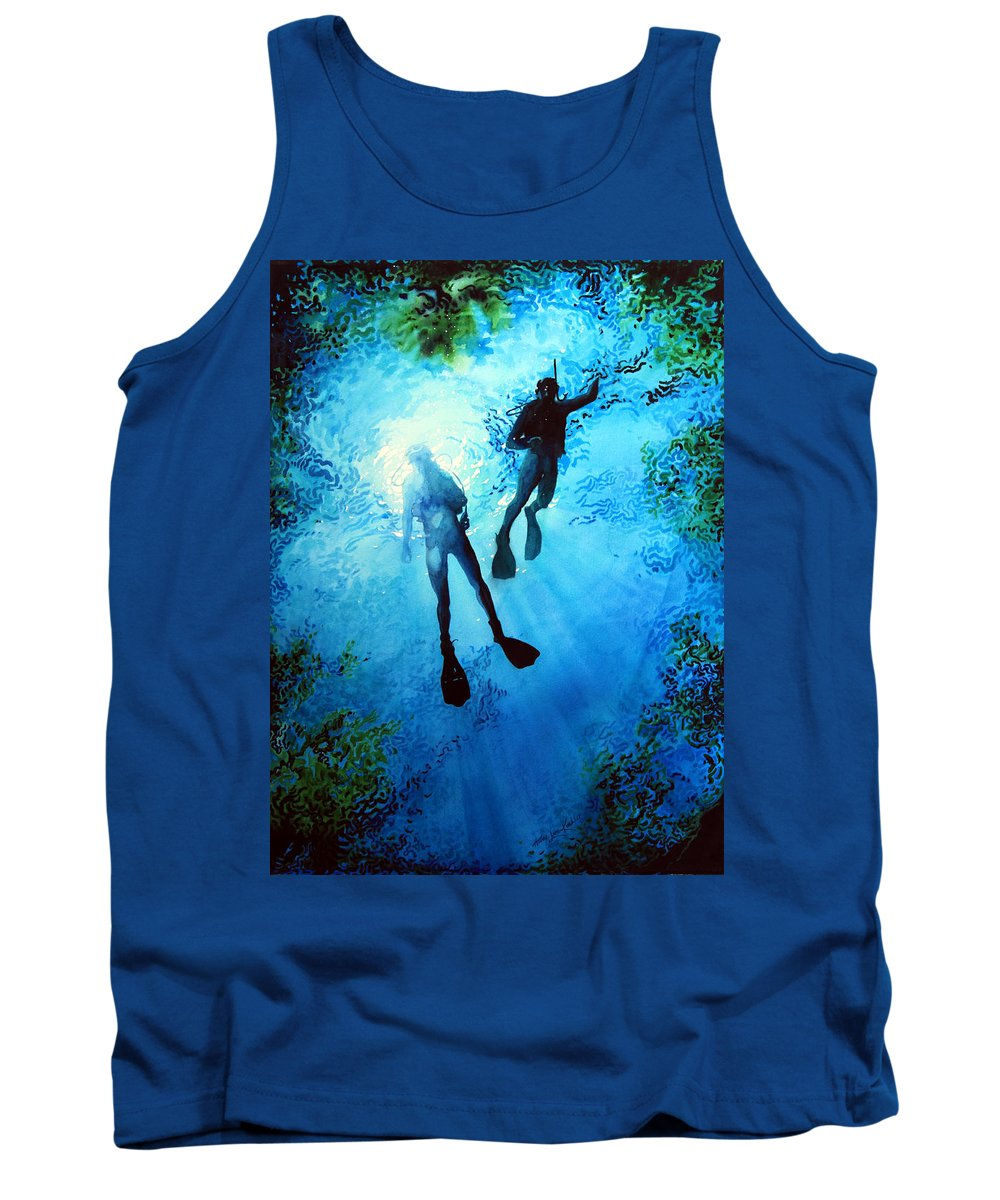Sports Artist Tank Top featuring the painting Exploring New Worlds by Hanne Lore Koehler