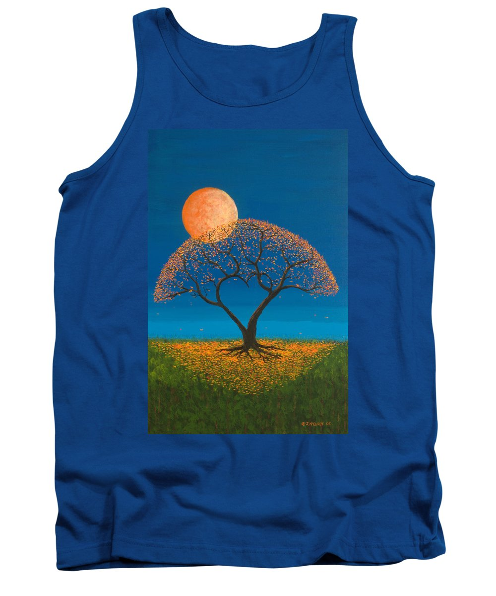 Love Tank Top featuring the painting Falling For You by Jerry McElroy