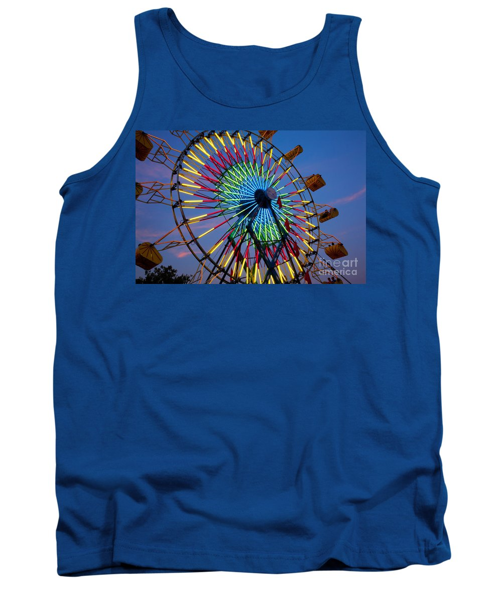 State Fair Tank Top featuring the photograph Ferris Wheel, Kentucky State Fair by David Davis
