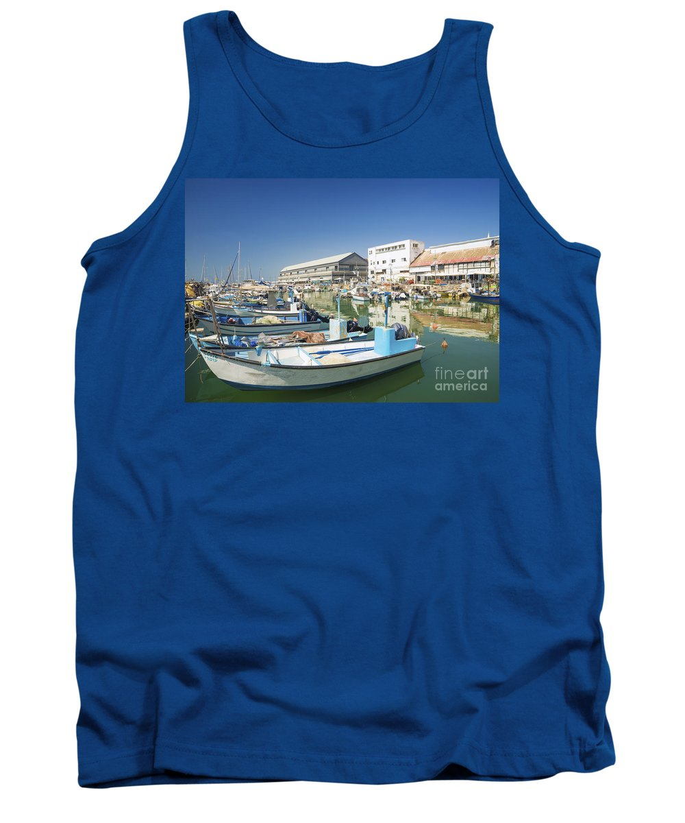 Architecture Tank Top featuring the photograph Fishing Port In Jaffa Tel Aviv Israel by Jacek Malipan