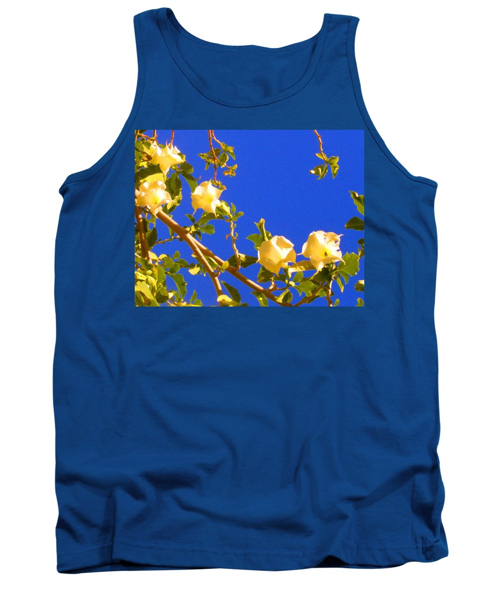 Landscapes Tank Top featuring the painting Flowering Tree 1 by Amy Vangsgard