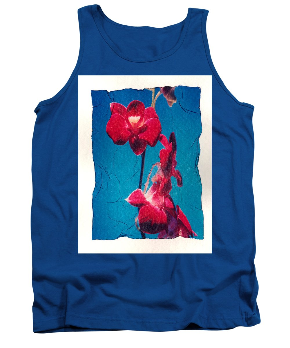 Blooming Tank Top featuring the photograph Flowers On Watercolor Paper by Corey Hochachka