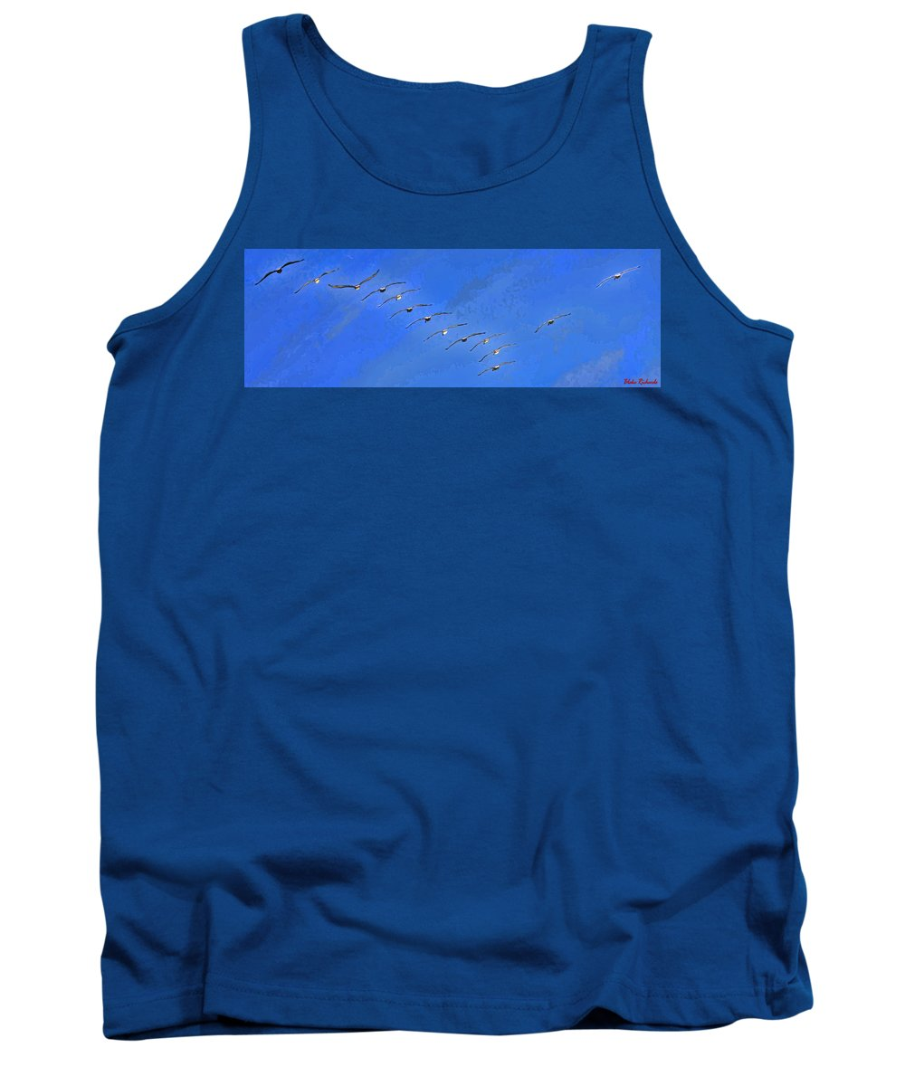 Birds Tank Top featuring the photograph Forteen In Flight by Blake Richards