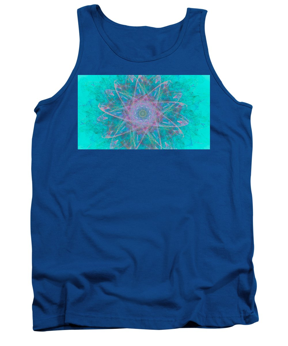 Fractal Tank Top featuring the digital art Fractal Magic by Christy Cox