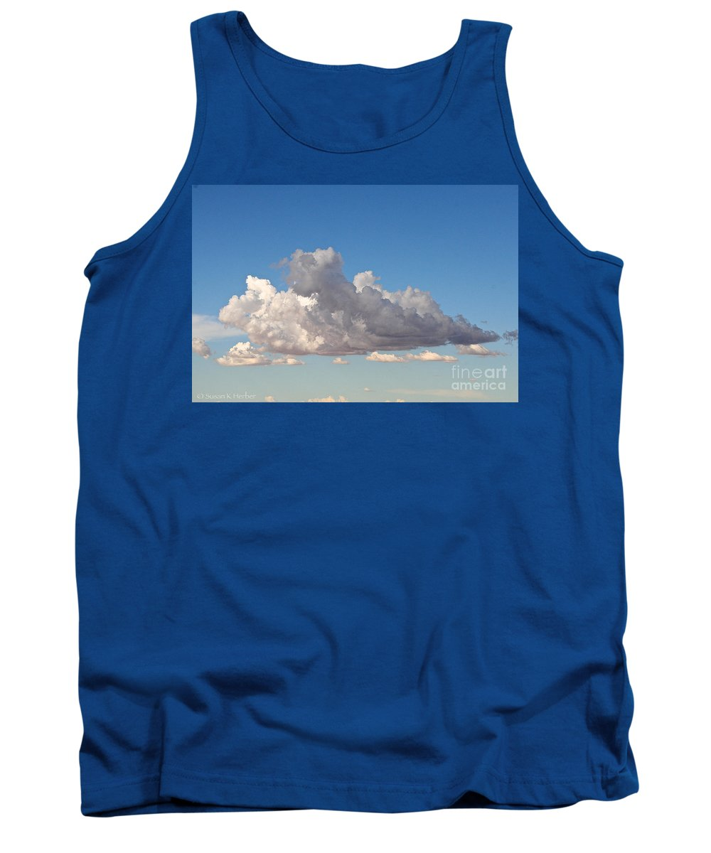 Cloud Tank Top featuring the photograph Free Form by Susan Herber