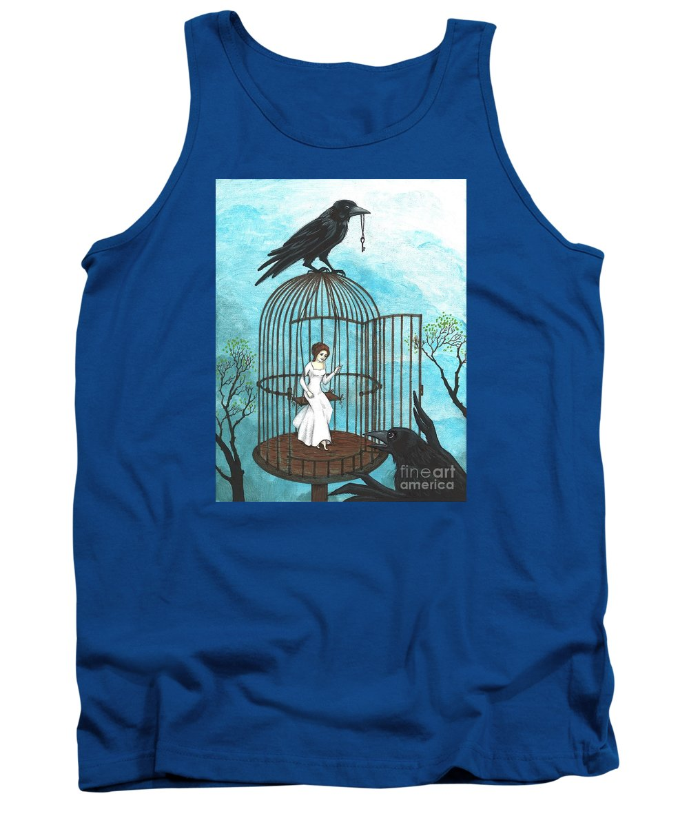 Print Tank Top featuring the painting Freedom by Margaryta Yermolayeva