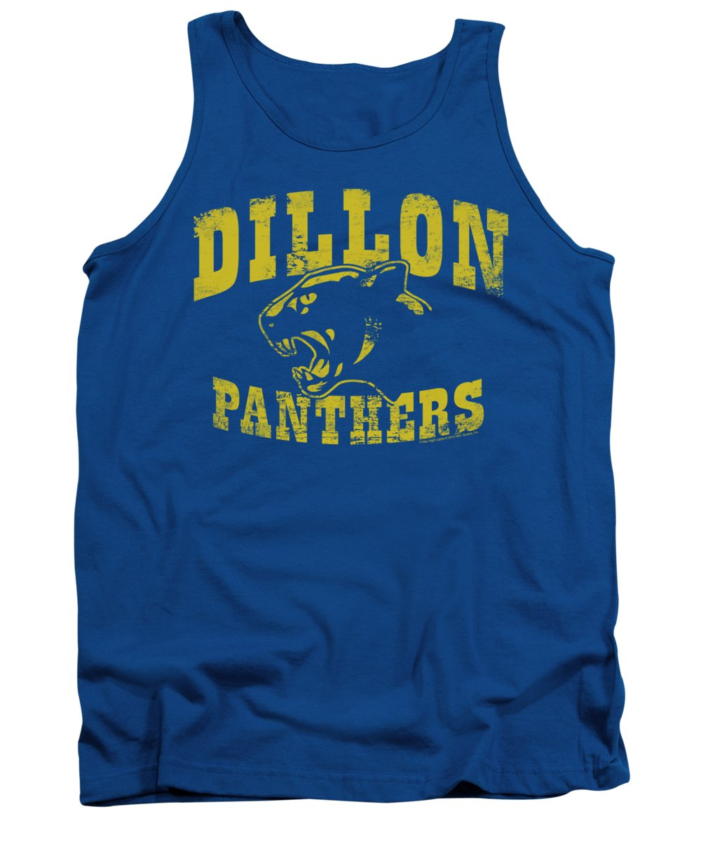 Friday Night Lights Tank Top featuring the digital art Friday Night Lts - Panthers by Brand A