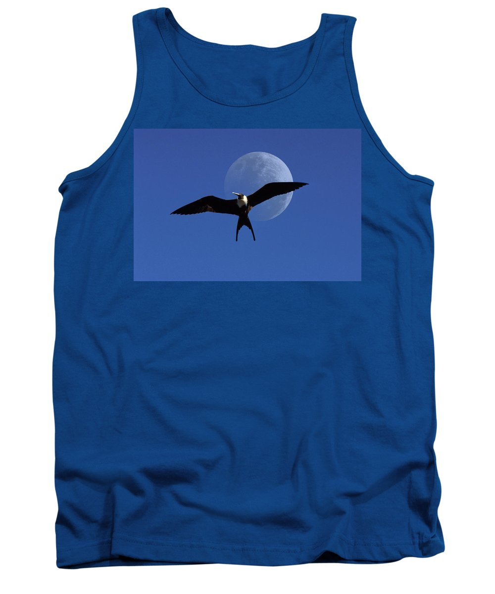 Frigate Tank Top featuring the photograph Frigatebird Moon by Jerry McElroy