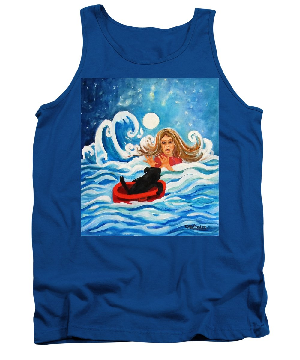 Front Tank Top featuring the painting Front Cover by Carol Allen Anfinsen