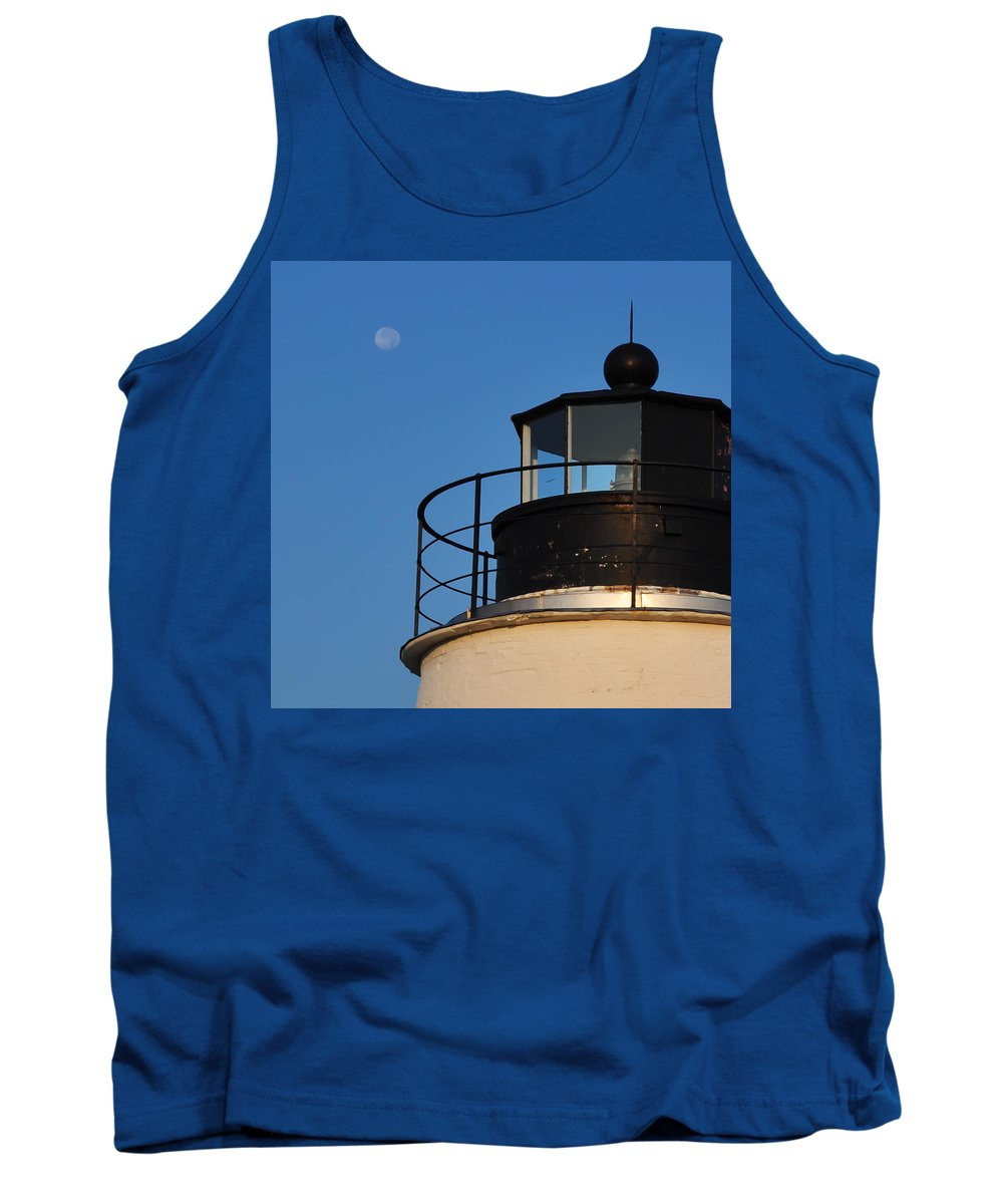 Full Moon At Piney Point Tank Top featuring the photograph Full Moon At Piney Point by Bill Cannon