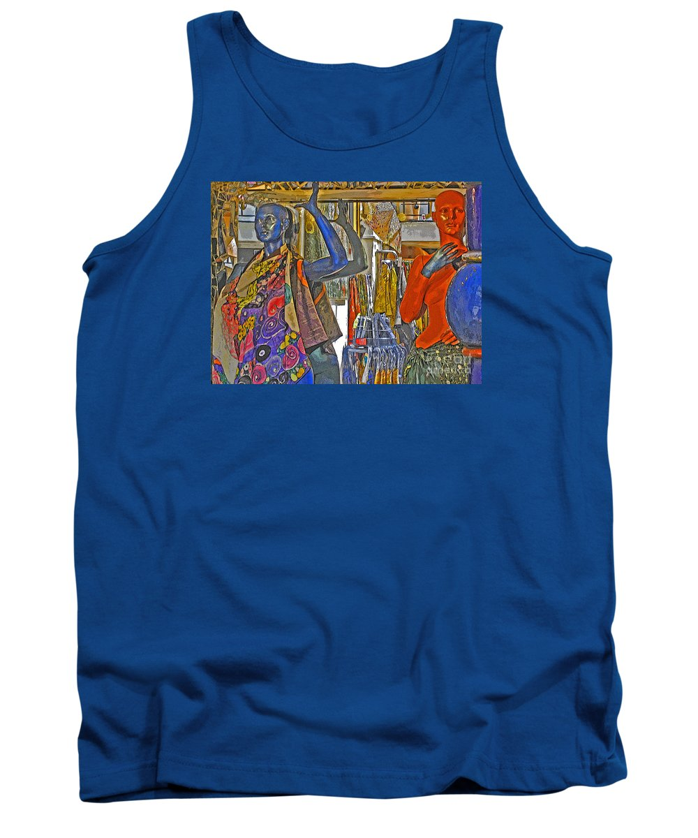 Fashion Tank Top featuring the photograph Funky Boutique by Ann Horn