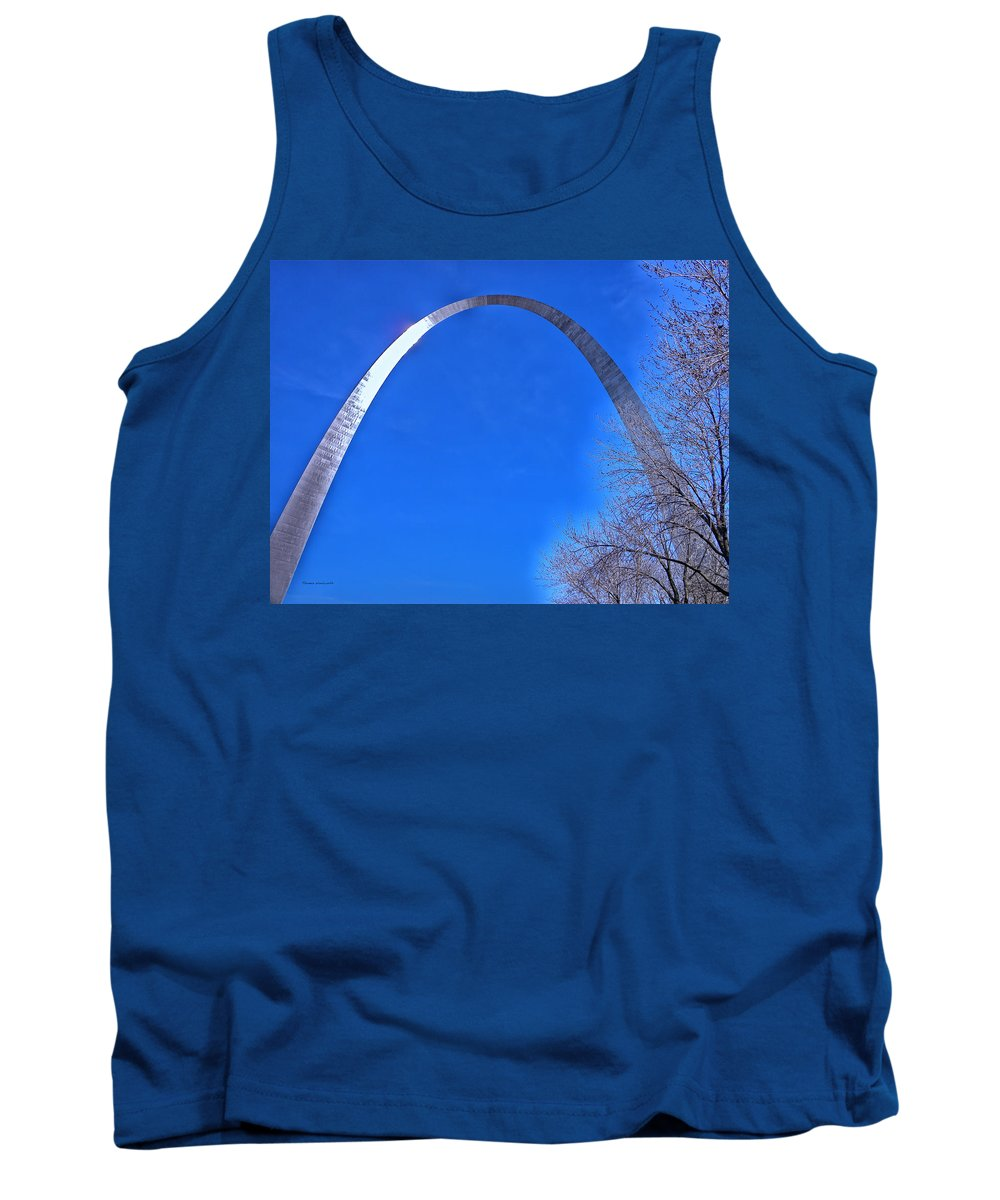 Jefferson National Expansion Tank Top featuring the photograph Gateway Arch St Louis 03 by Thomas Woolworth