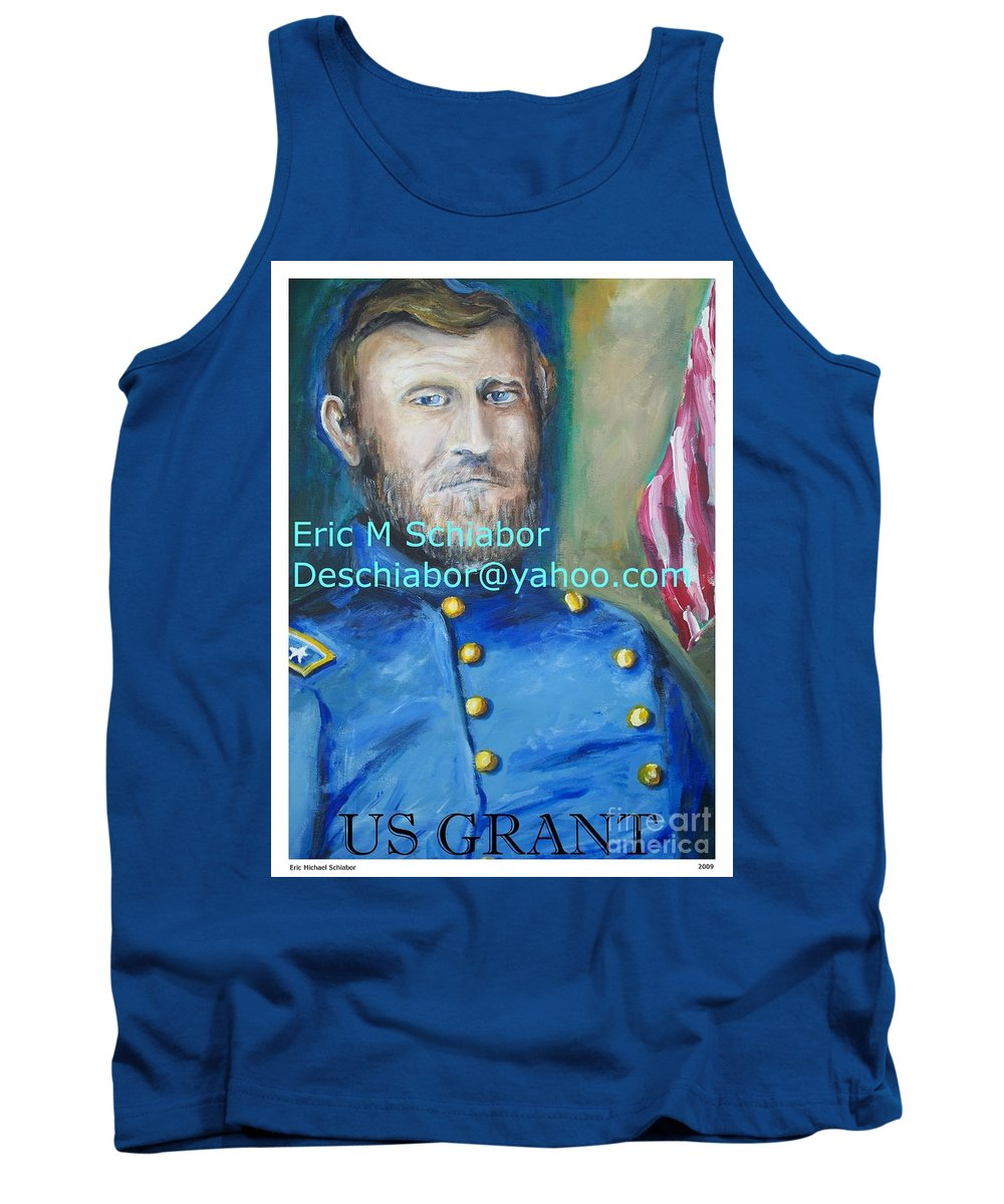 Grant Artwork Tank Top featuring the painting General Us Grant by Eric Schiabor