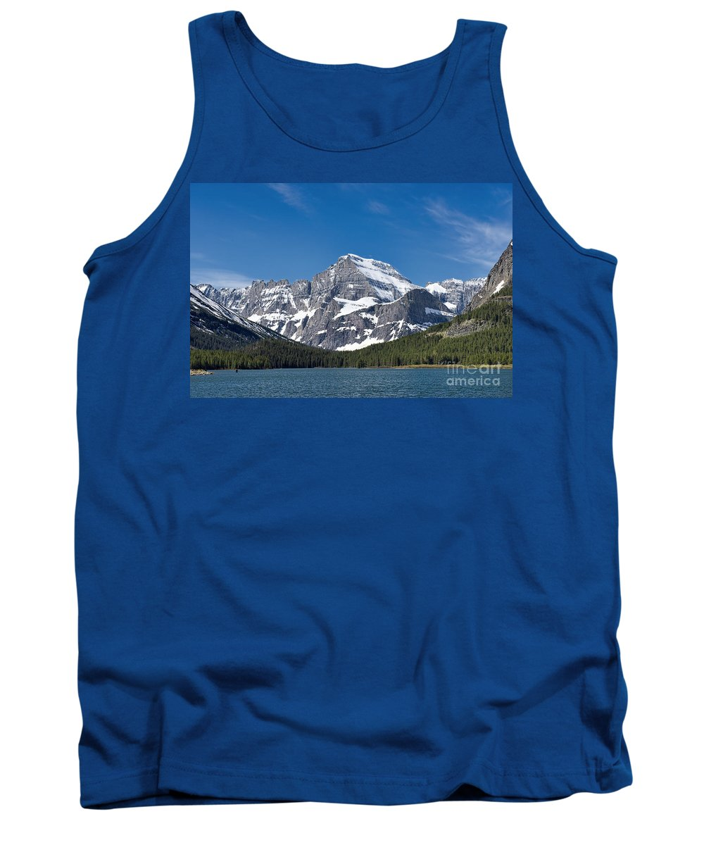 National Park Tank Top featuring the photograph Glacier National Park Mountain by David Arment
