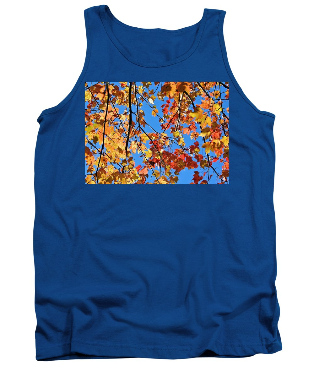 Autumn Tank Top featuring the photograph Glowing Autumn by Emma Motte