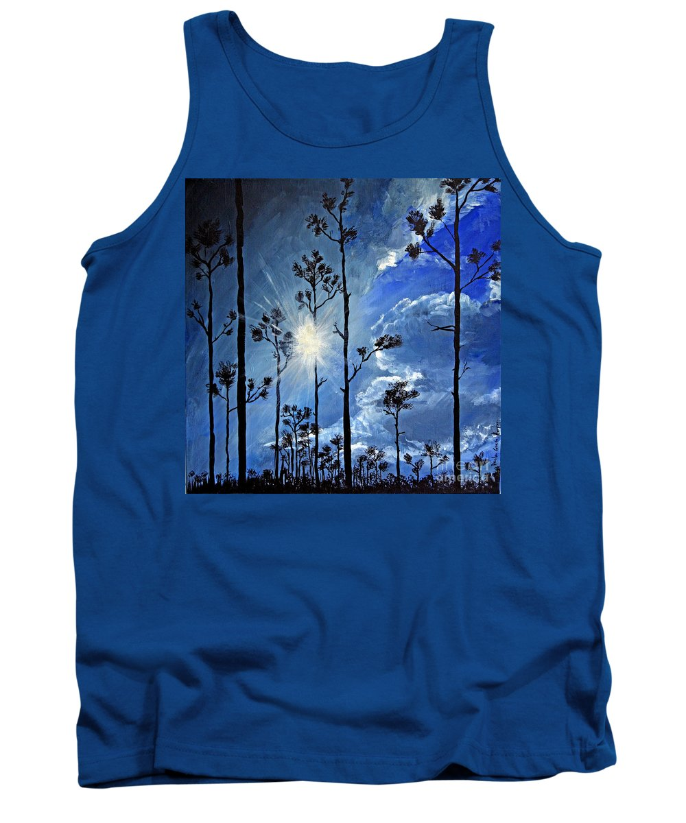 Trees Tank Top featuring the painting Grand Bahama Forest by Paola Correa de Albury