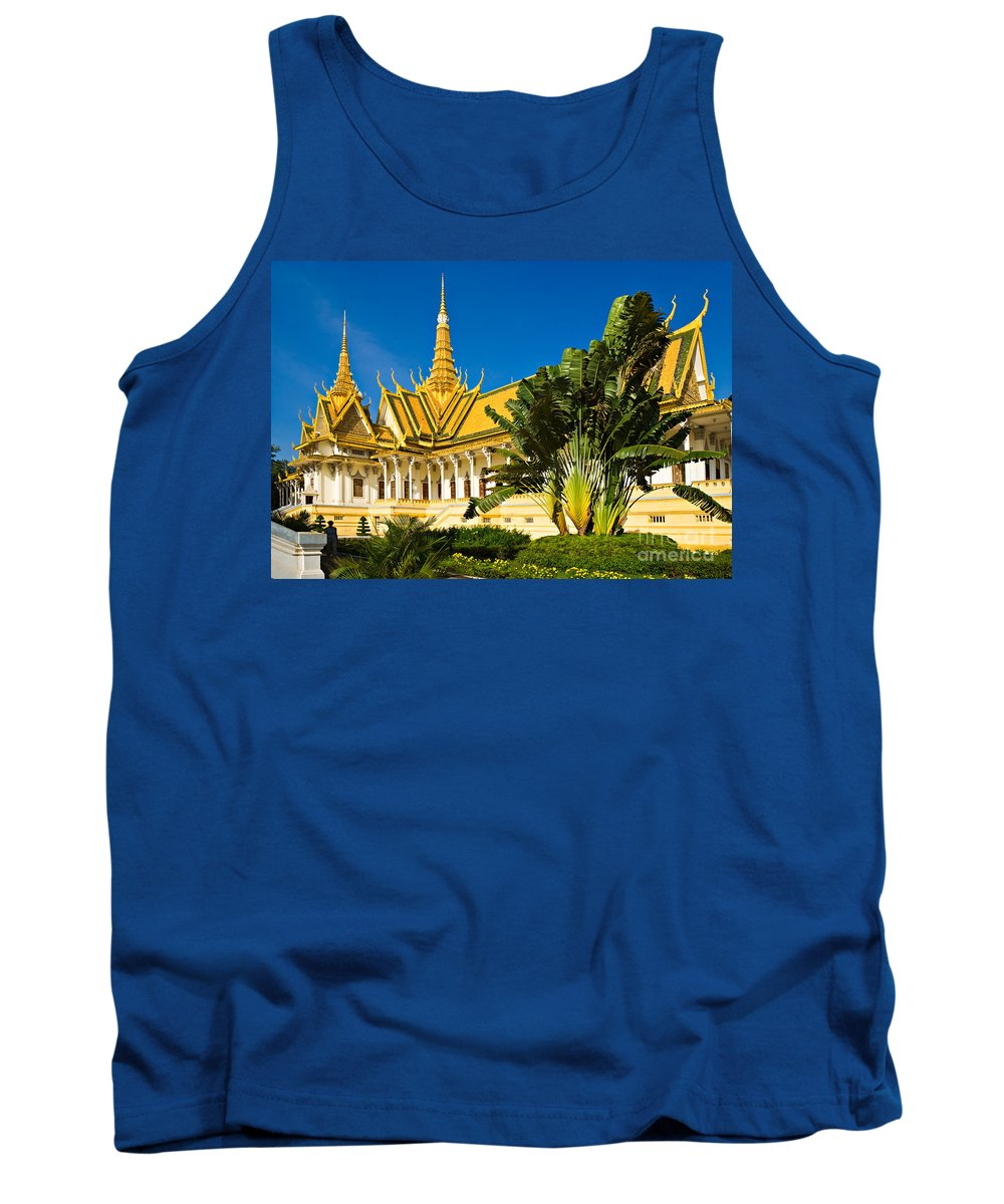 Cambodia Tank Top featuring the photograph Grand Palace - Cambodia by Luciano Mortula
