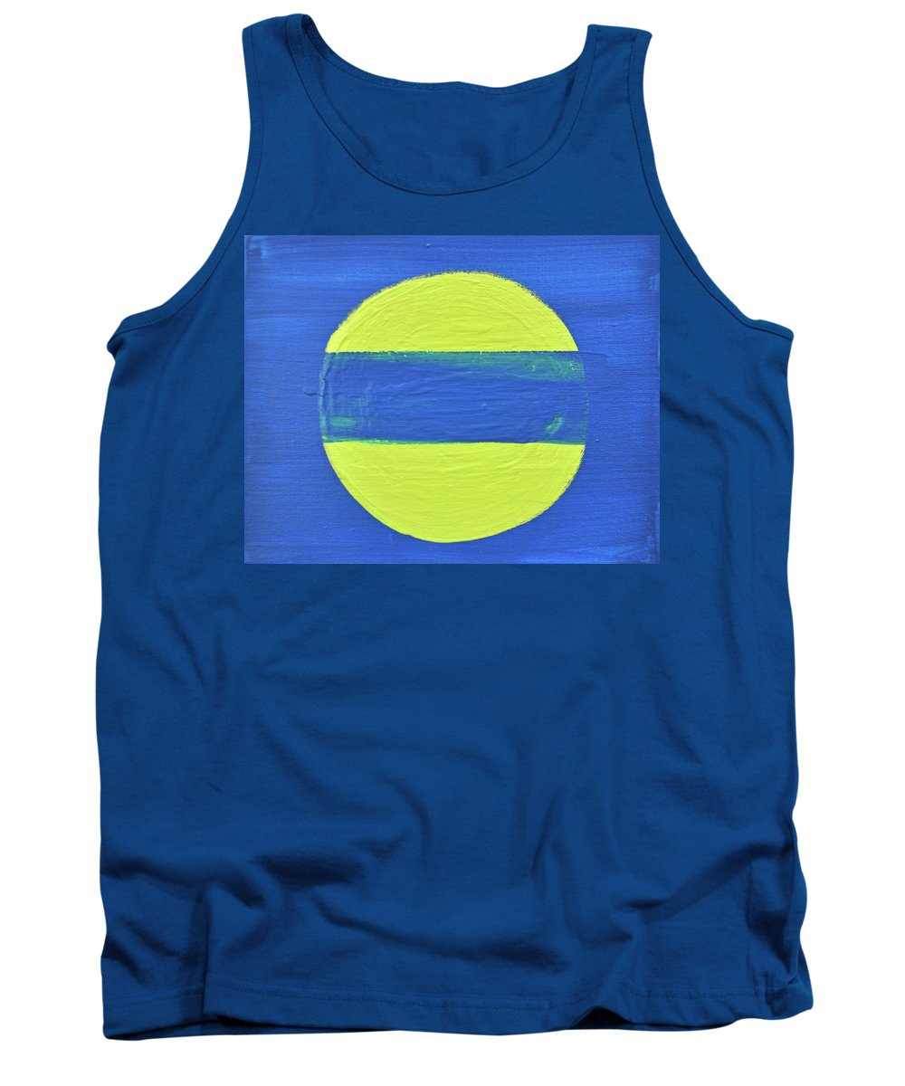 Modern Tank Top featuring the painting Half Moon by Kimberly Maxwell Grantier
