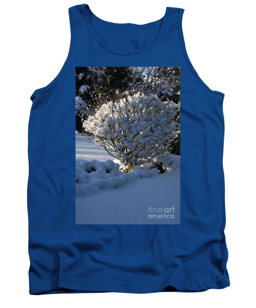 Winter Tank Top featuring the photograph Hibiskus In The Wintertime by Christiane Schulze Art And Photography