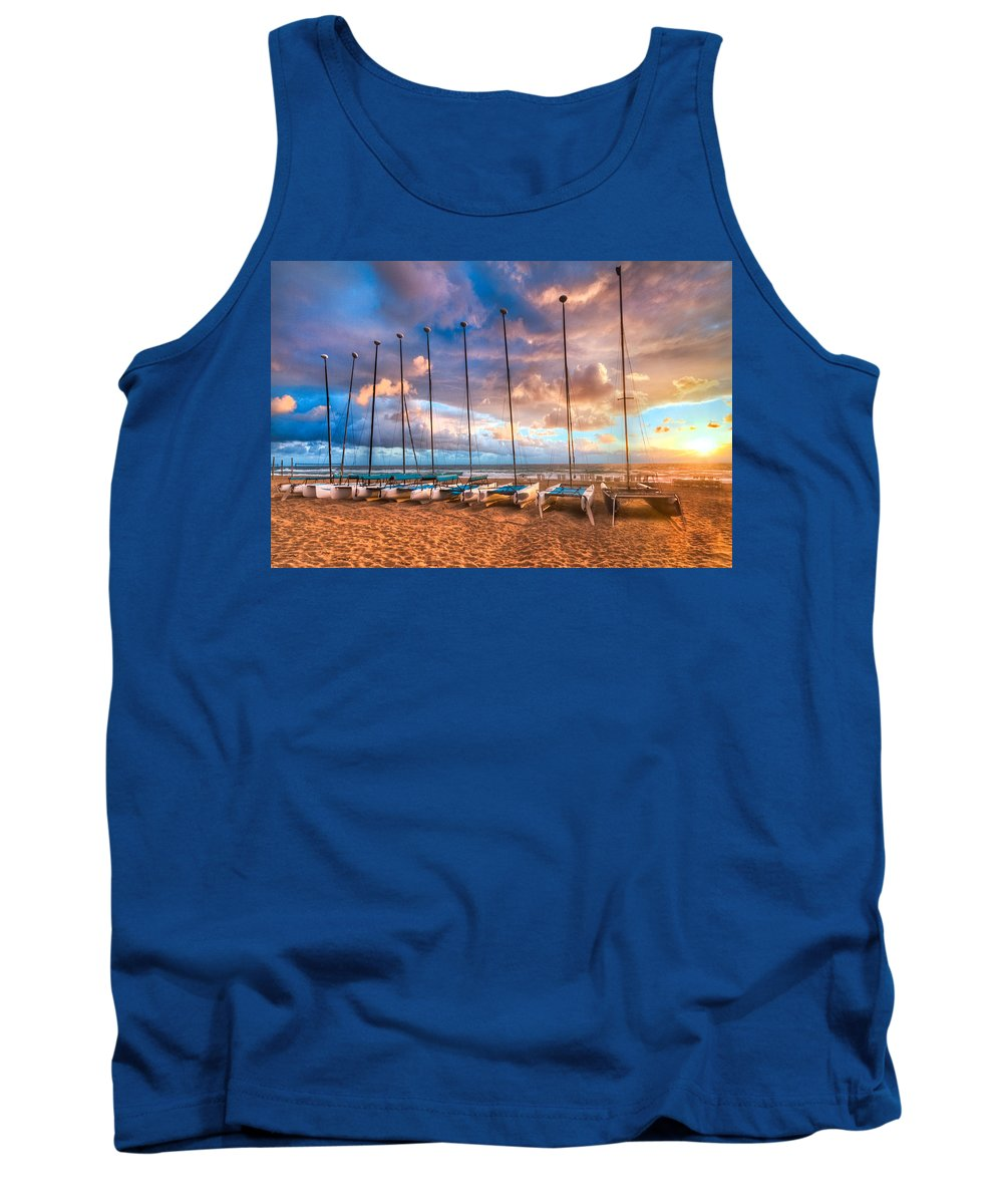 Boats Tank Top featuring the photograph Hobe-cats by Debra and Dave Vanderlaan