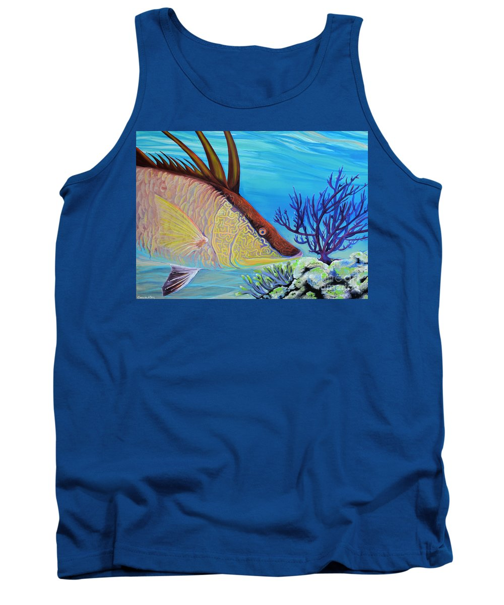 Comission Tank Top featuring the painting Hogfish by Paola Correa de Albury