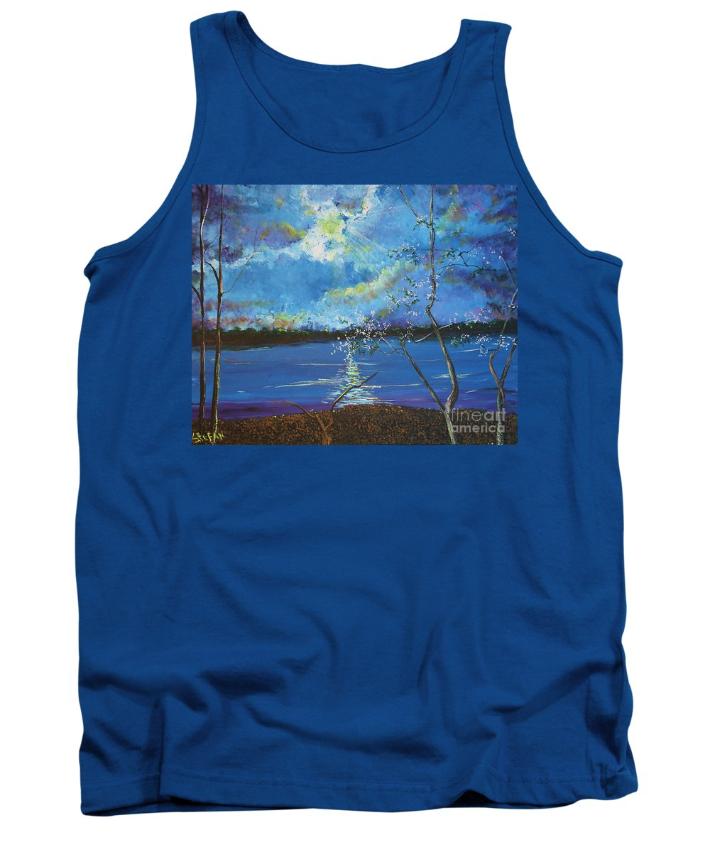 Landscape Tank Top featuring the painting Hope Prevailing by Stefan Duncan