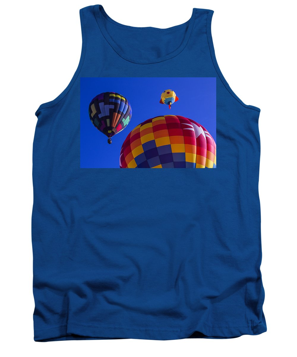 Hot Air Balloons Tank Top featuring the photograph Hot Air Balloons Launch by Garry Gay