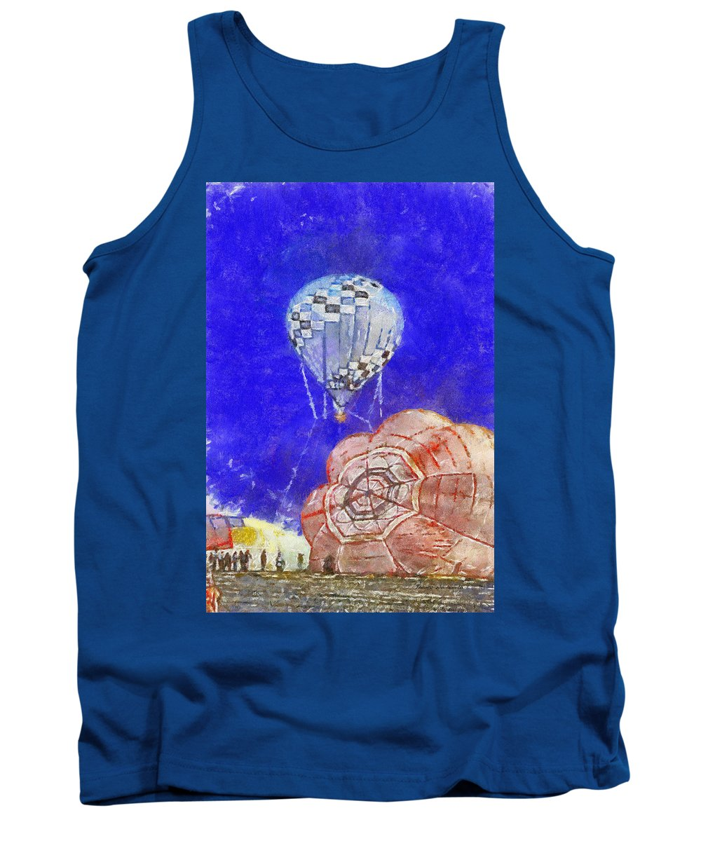 Adventure Tank Top featuring the photograph Hot Air Balloons Photo Art 04 by Thomas Woolworth