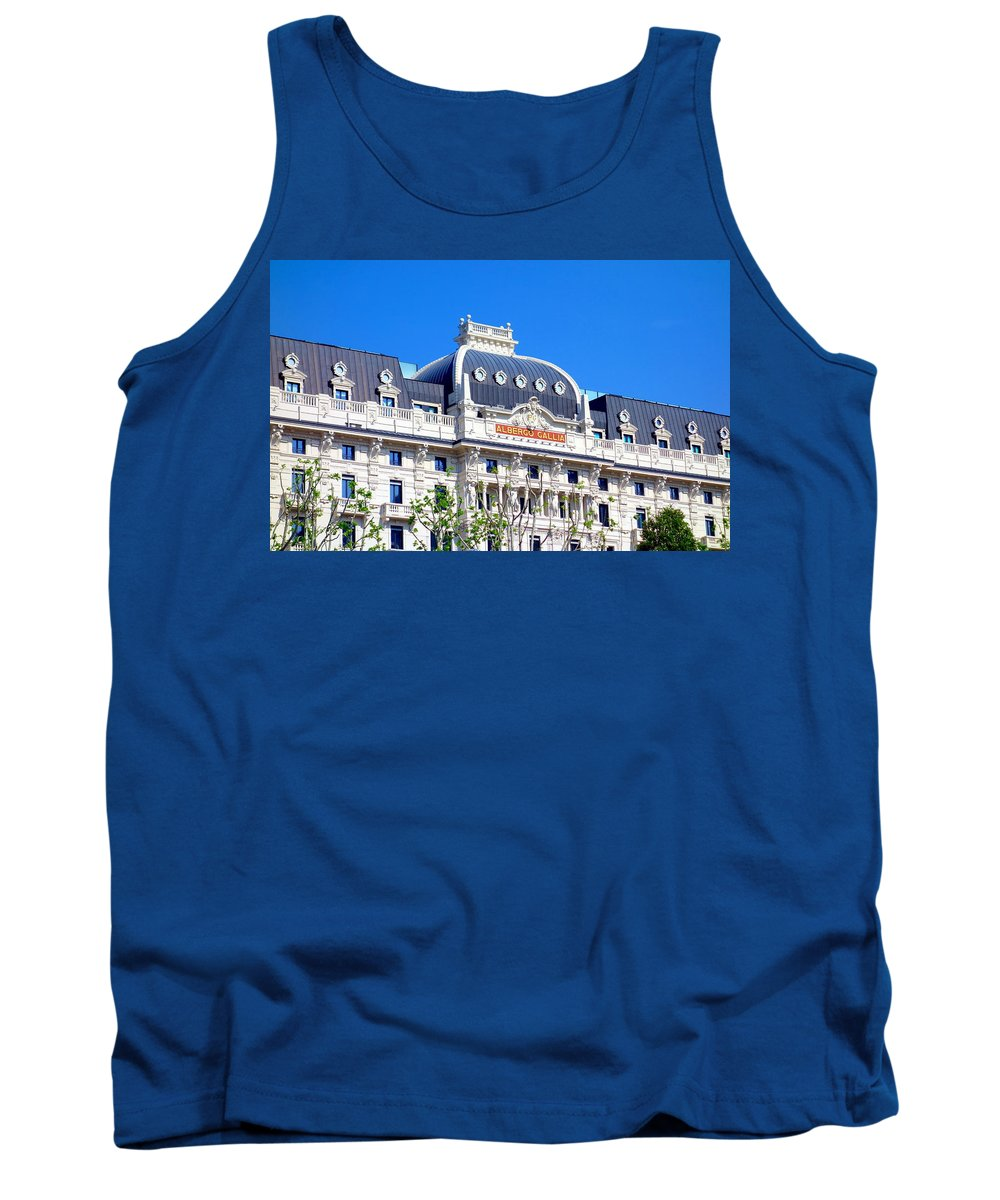 Hotel Tank Top featuring the photograph Hotel Gallia by Valentino Visentini